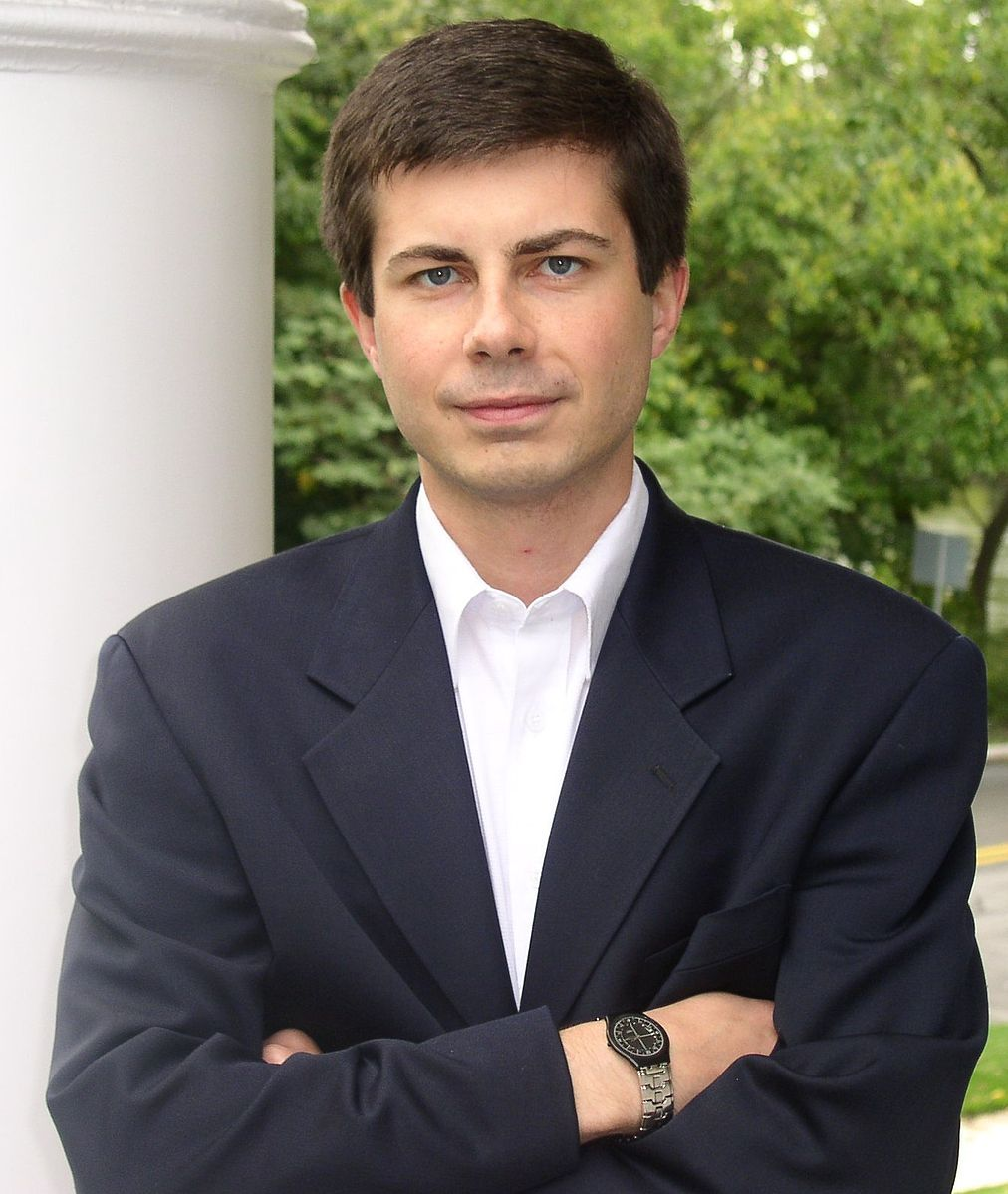 Mayor Pete Buttigieg as seen on his campaign website.