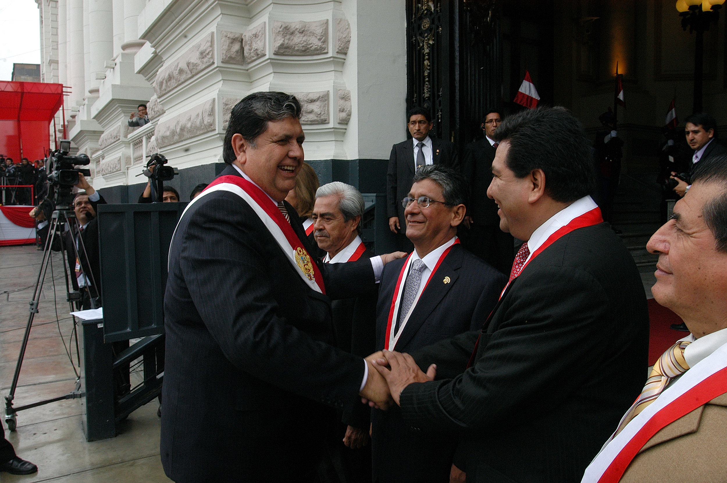 The former president at the ceremony celebrating Peru's 189th year of independence.
