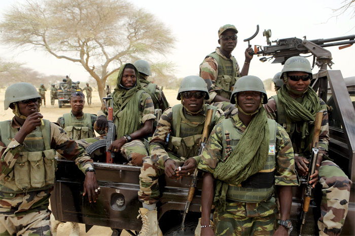 Nigerian Army troops on patrol. This group from the 22 Brigade said they intercepted three Boko Haram terrorists in 2017. Photo used with creative commons.