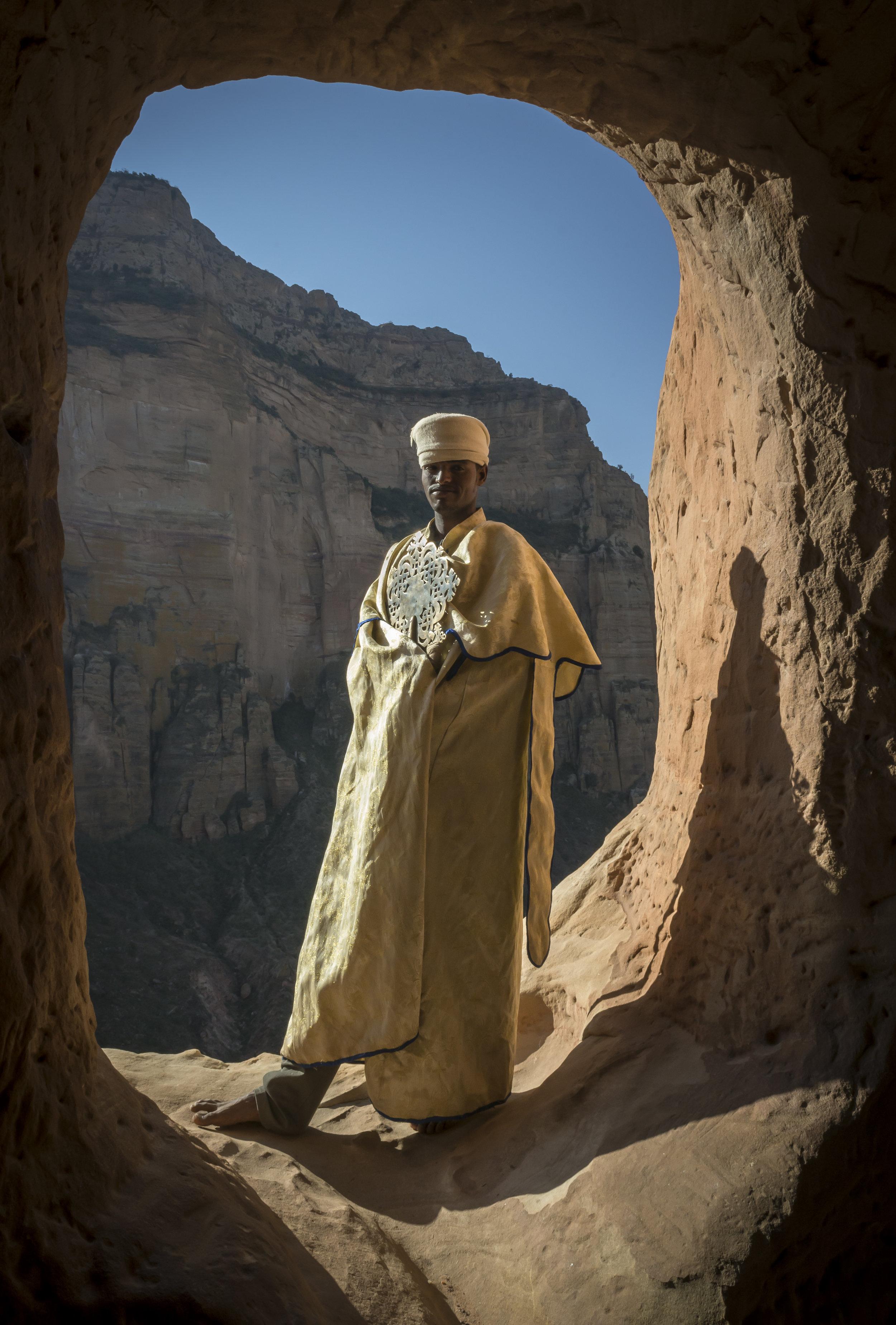 An Ethiopian Christian priest . Photo by Chris Roche.