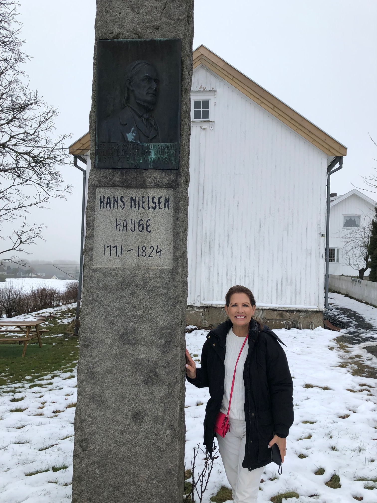 Former U.S. Rep. Michele Bachmann, R-Minn., visited Hauge´s childhood home while she was in Norway. She also said she is very interested in learning more about him and his life.