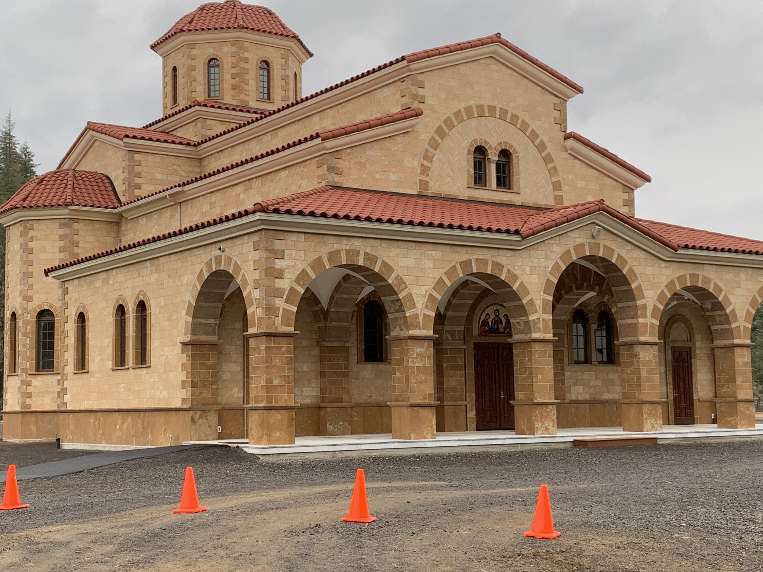The completed $2 million church at at the Holy Monastery of St. John the Forerunner. Photo by Julia Duin.
