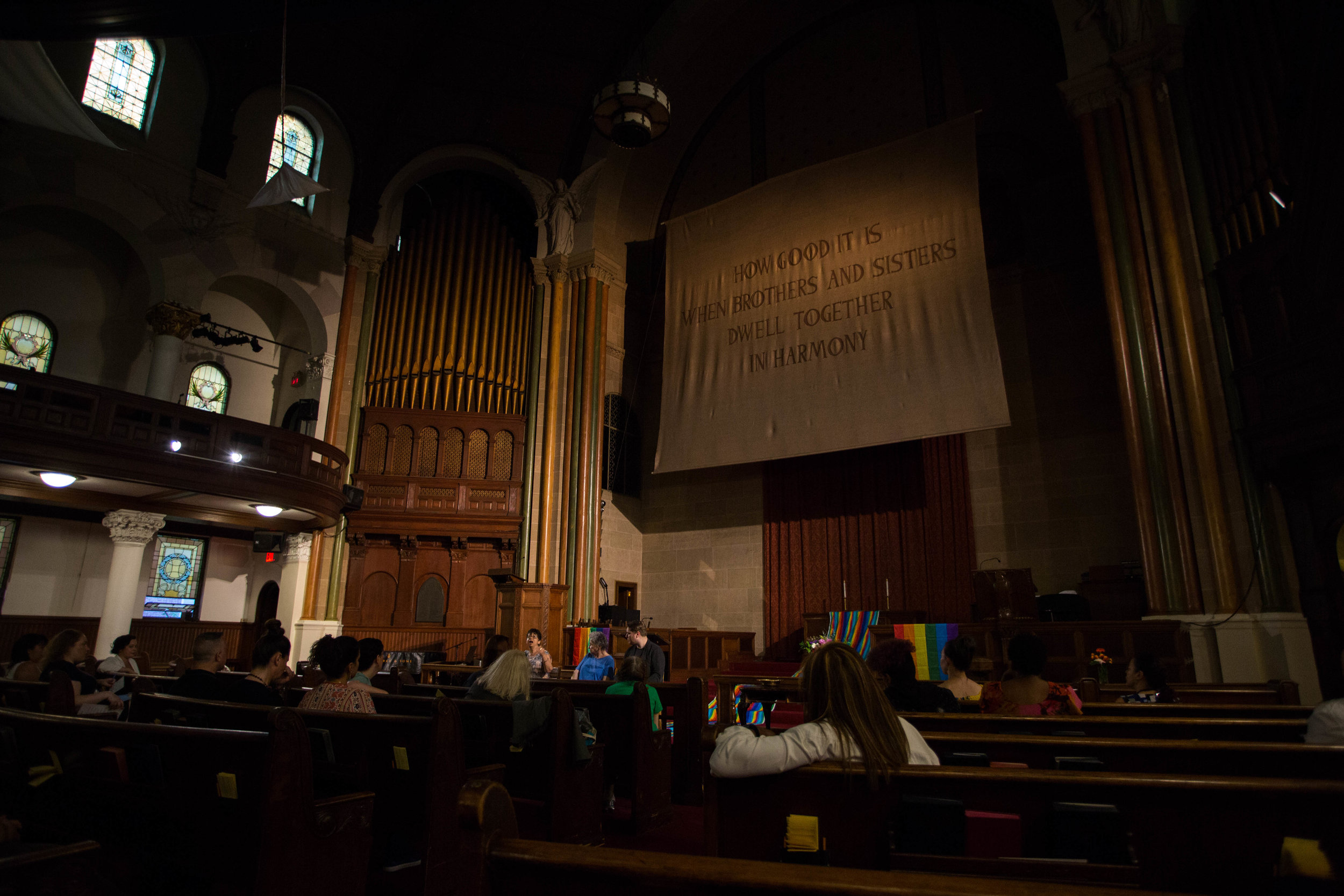 The Spiritualist Church of New York City holds bi-monthly services at St. Paul & St. Andrew Methodist Church. Photo by Wesley Parnell.
