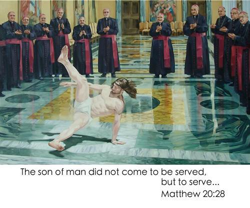 A viral meme of a breakdancing Jesus.