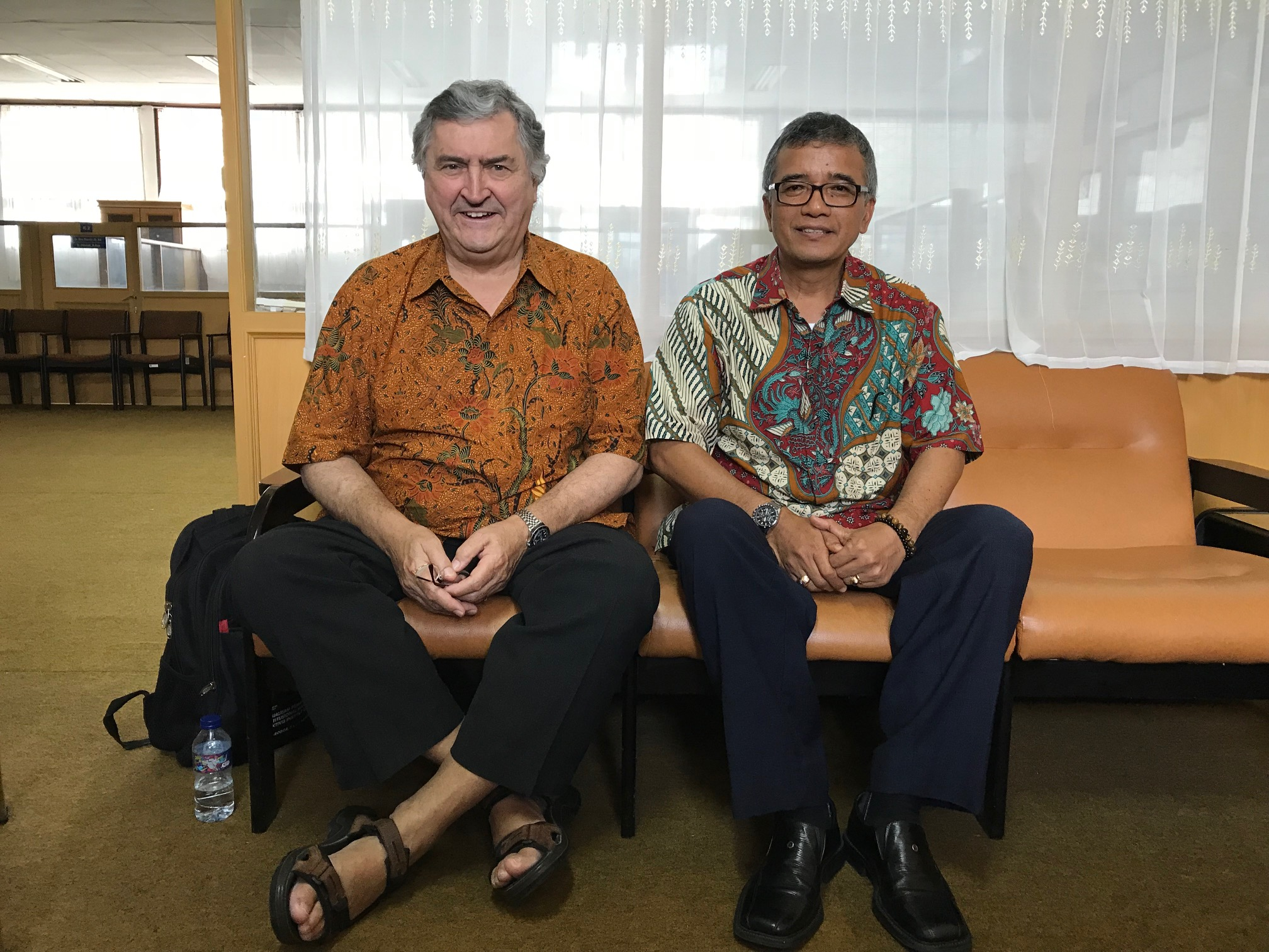 Paul Marshall with Professor Gusti Asnan of Andalus University. Photo courtesy of Paul Marshall.
