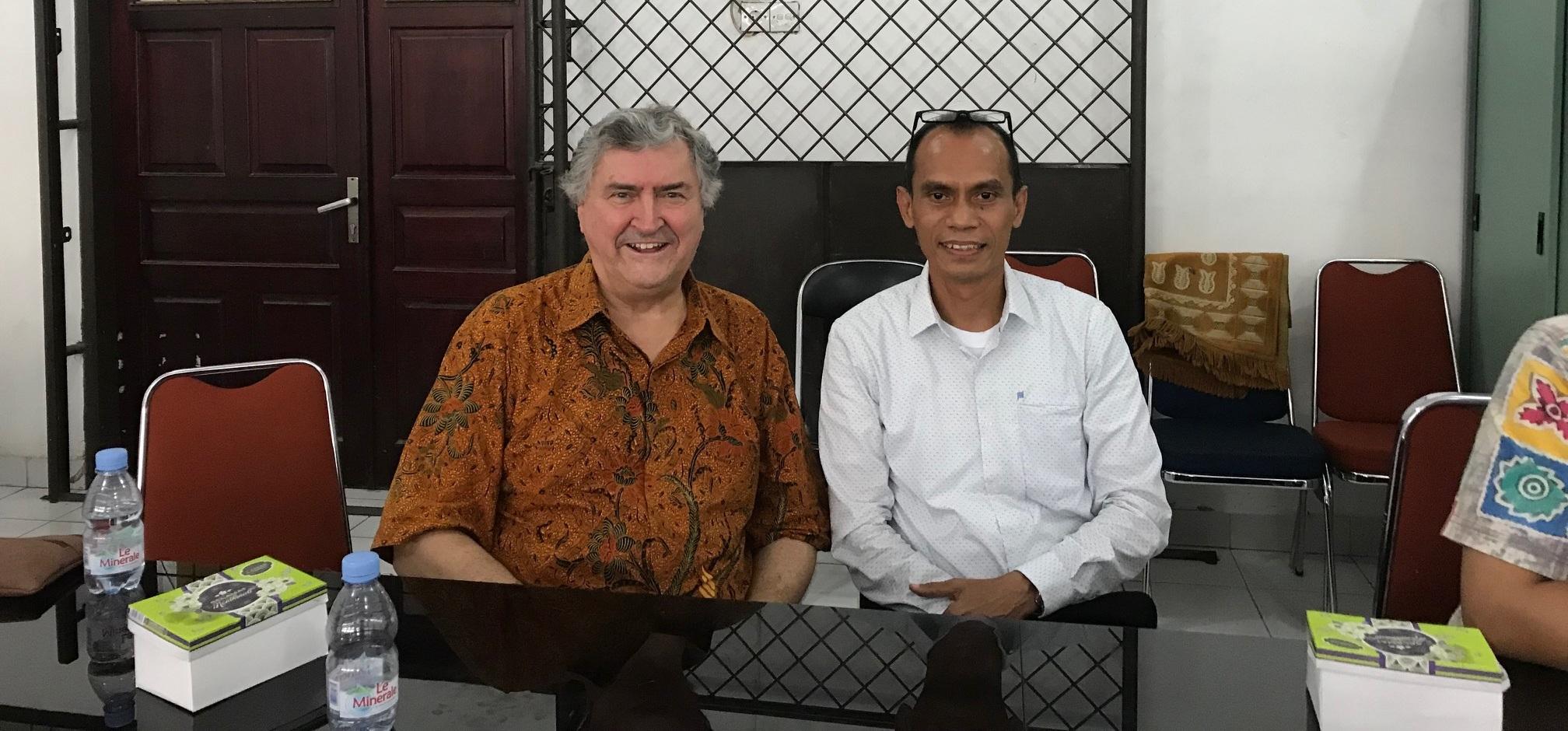 Paul Marshall with Professor Yasrul Huda. Photo courtesy of Paul Marshall.