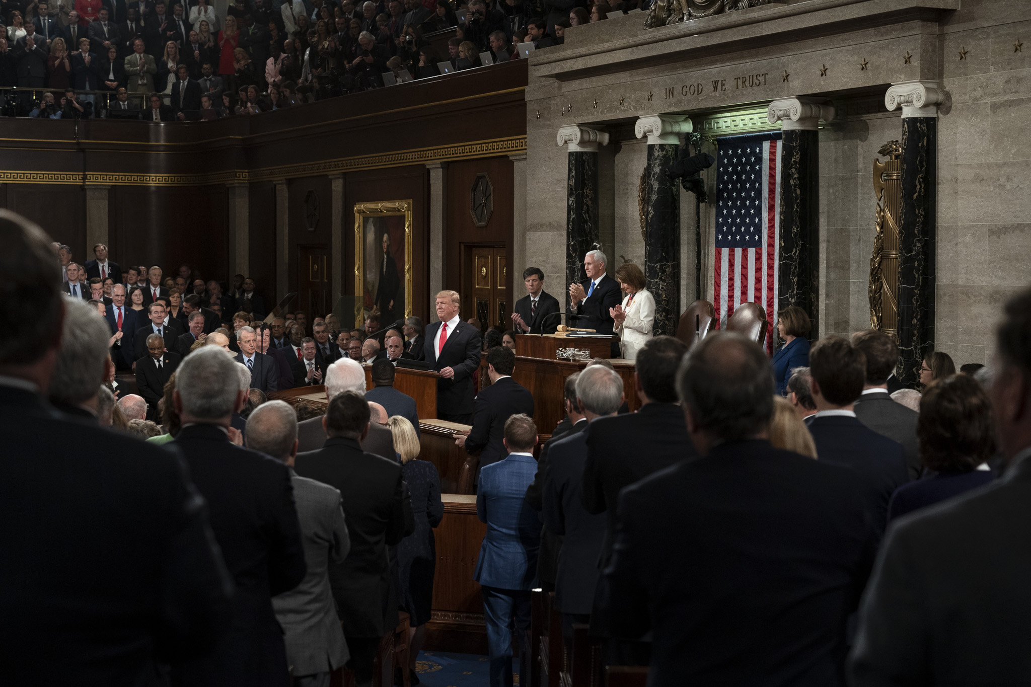 President Donald Trump at the State of the Union. Photo courtesy of the White House.