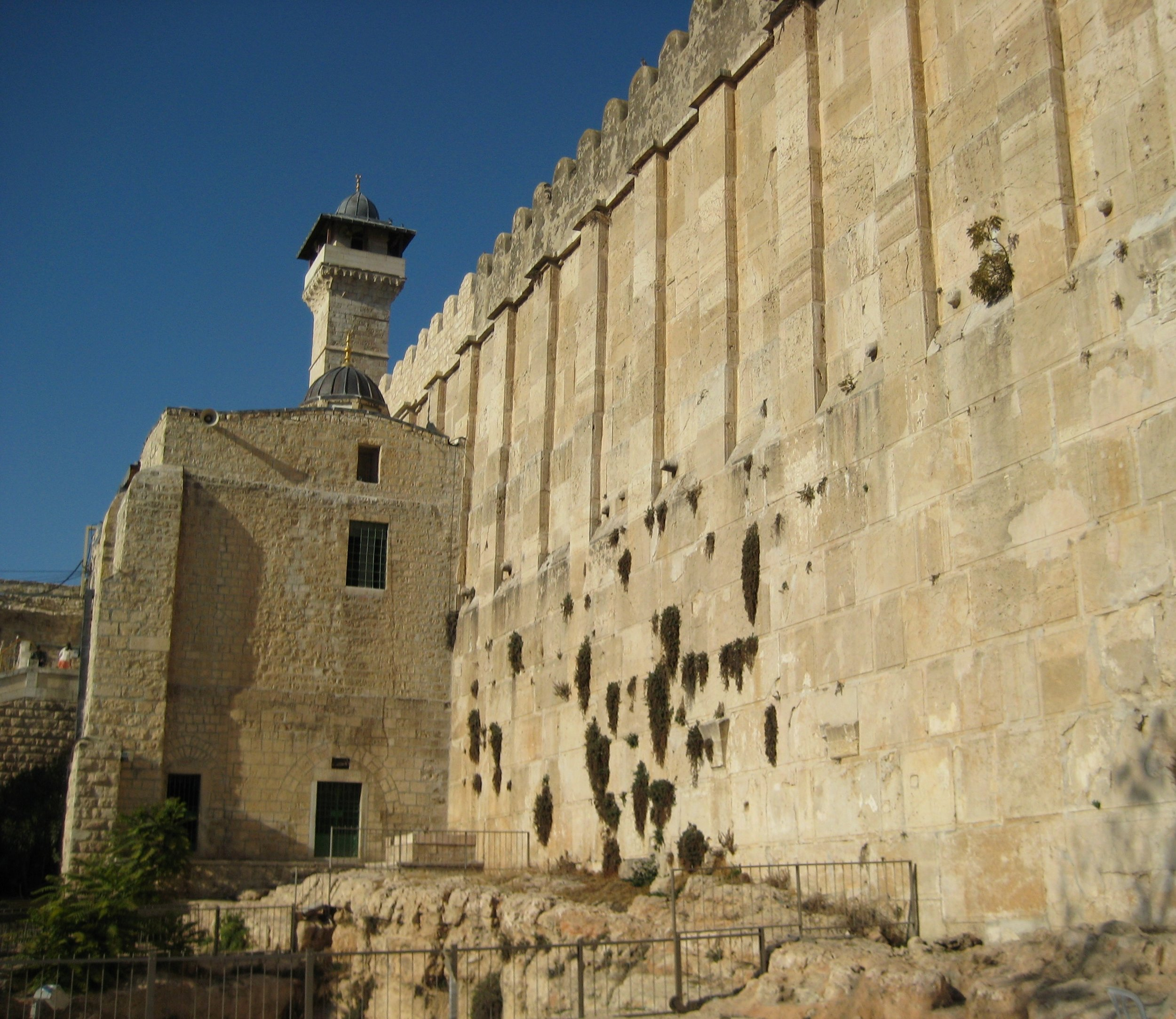 The tombs of the patriarchs, including Abraham revered by Jews, Muslims and Christians, in Hebron. Photo by Gil Zohar.