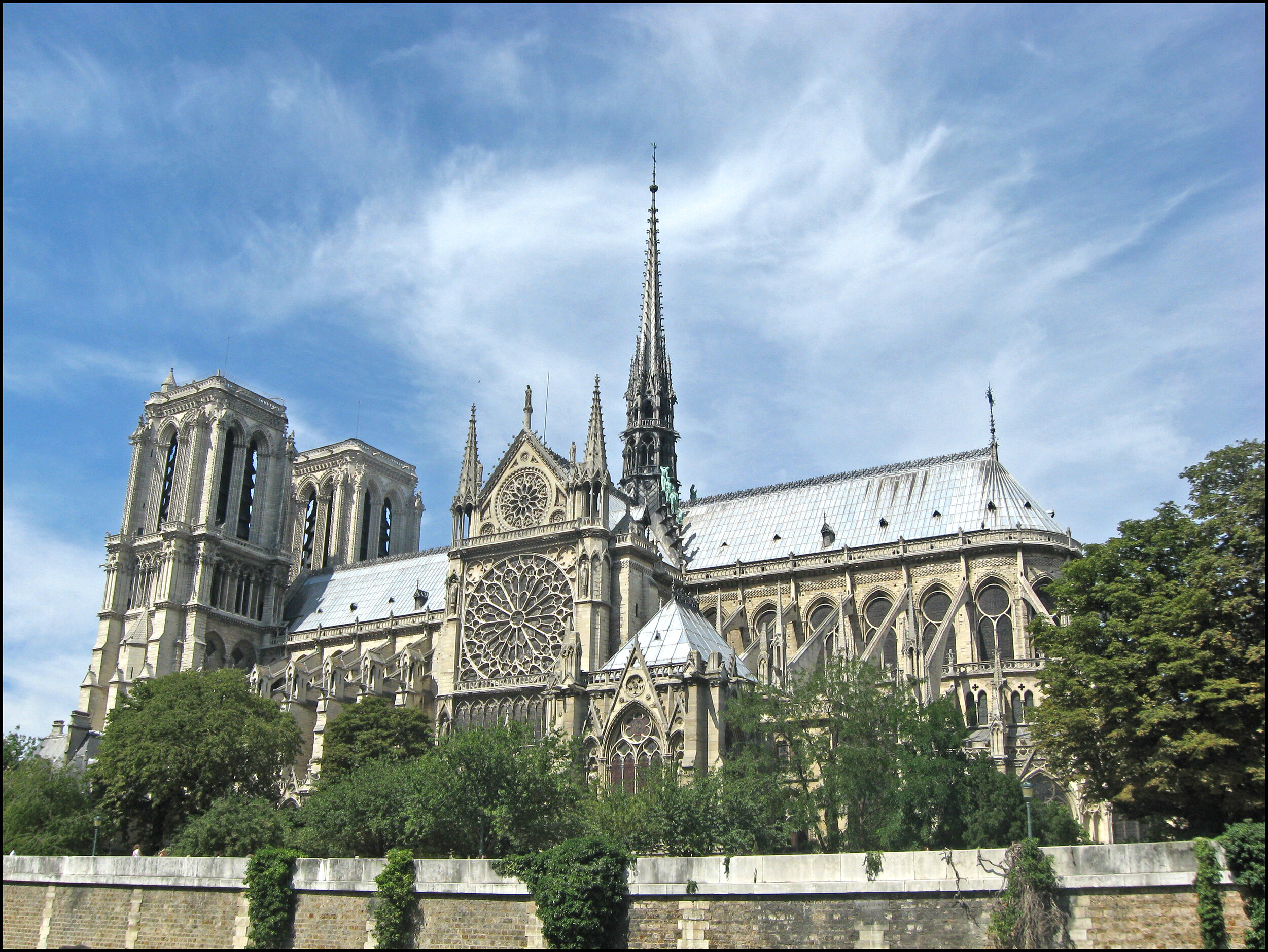 Notre Dame Cathedral in Paris before an accidental fire on April 15 destroyed its wooden roof, famed spire and much of the interior. Creative Commons photo.