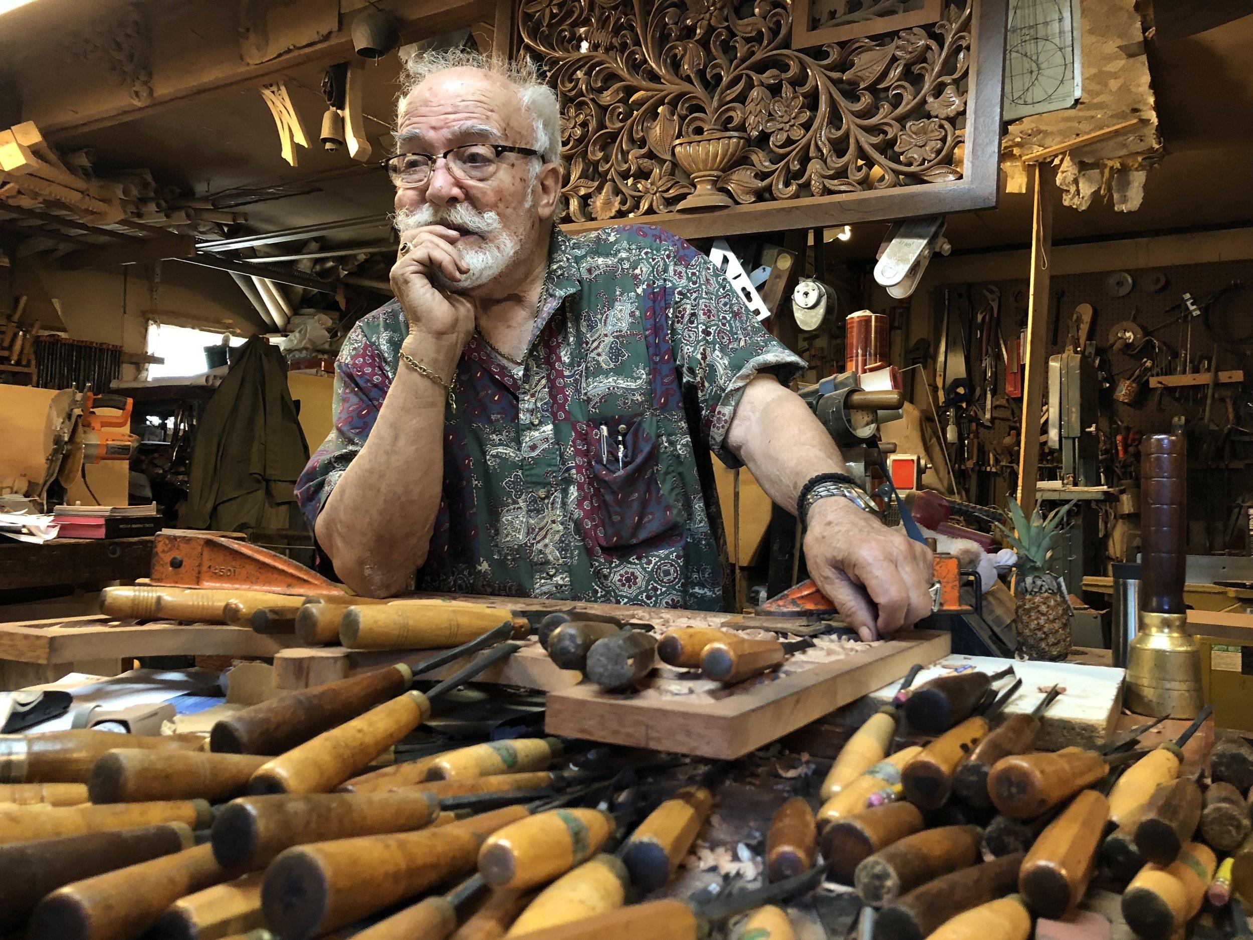 The Orthodox Wood Carver - Konstantinos Papadakis carves sacred artifacts