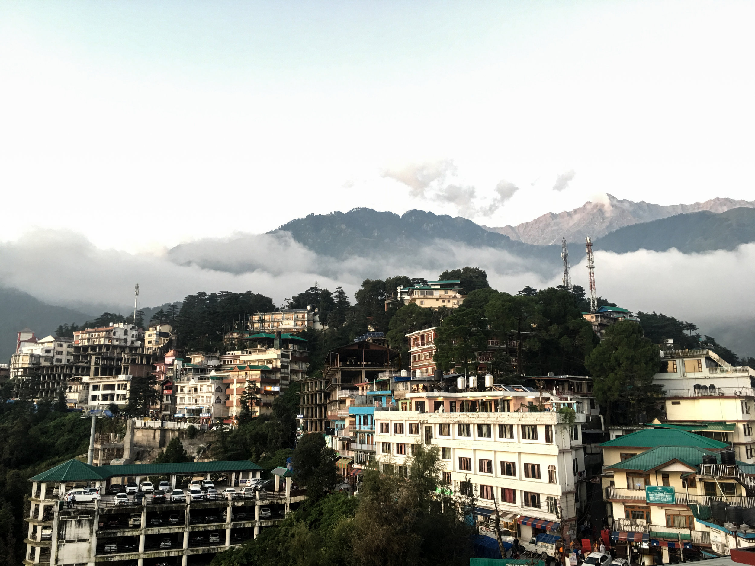 Situated in the lap of mountains and surrounded by dense green forests, Dharamshala is usually lost in clouds. Photo by Avinash Giri.