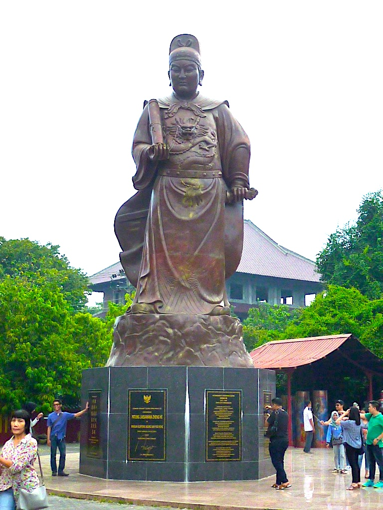 A statue of Cheng Ho, also called Zheng He, outside Sam Poo Kong temple. Photo by Paul Marshall.