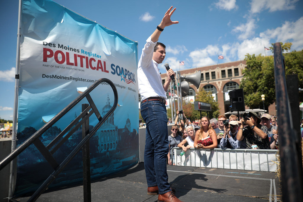 Pete Buttigieg's religion has been a central part of his campaign. Democrats writ large don't seem to be following suit. Creative Commons photo.