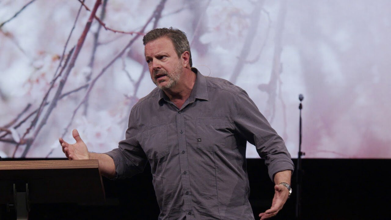 Kris Vallotton, preaching on Bethel TV, the megachurch's online streaming service, in 2019.