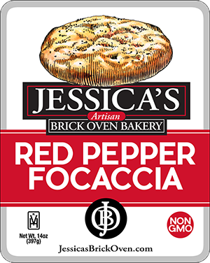 Jessica's Brick Oven_Red Pepper Focaccia