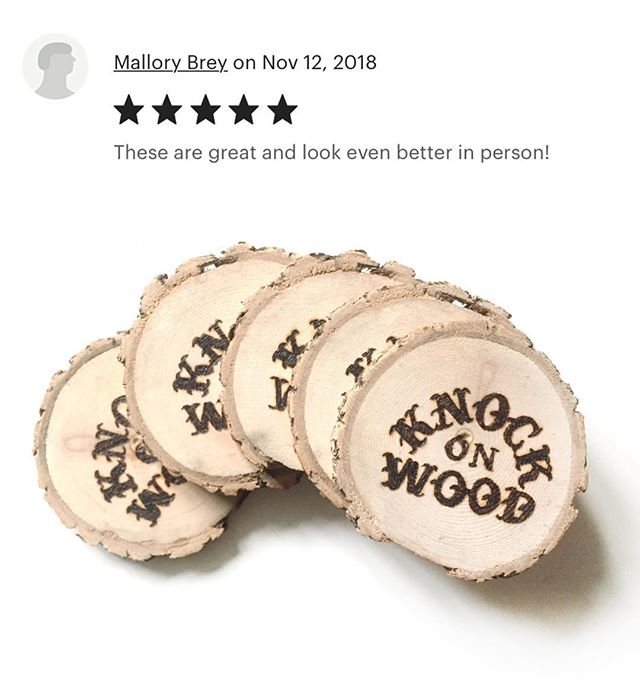 Looking to get lucky this holiday season like Mallory here? We are updating our #Etsy shop with a limited batch of our woodburned Knock on Wood coasters, handcut #HudsonValley stickers and more! +FREE SHIPPING! https://www.etsy.com/shop/RhinebeckDominoCo #linkinbio