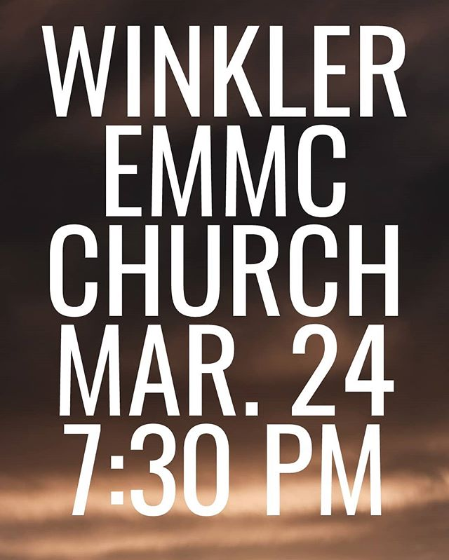 If you're in the Winkler area this Sunday, come join us at the EMMC church at 7:30! #bchb #winkler #manitoba #gospel #music #quartet
