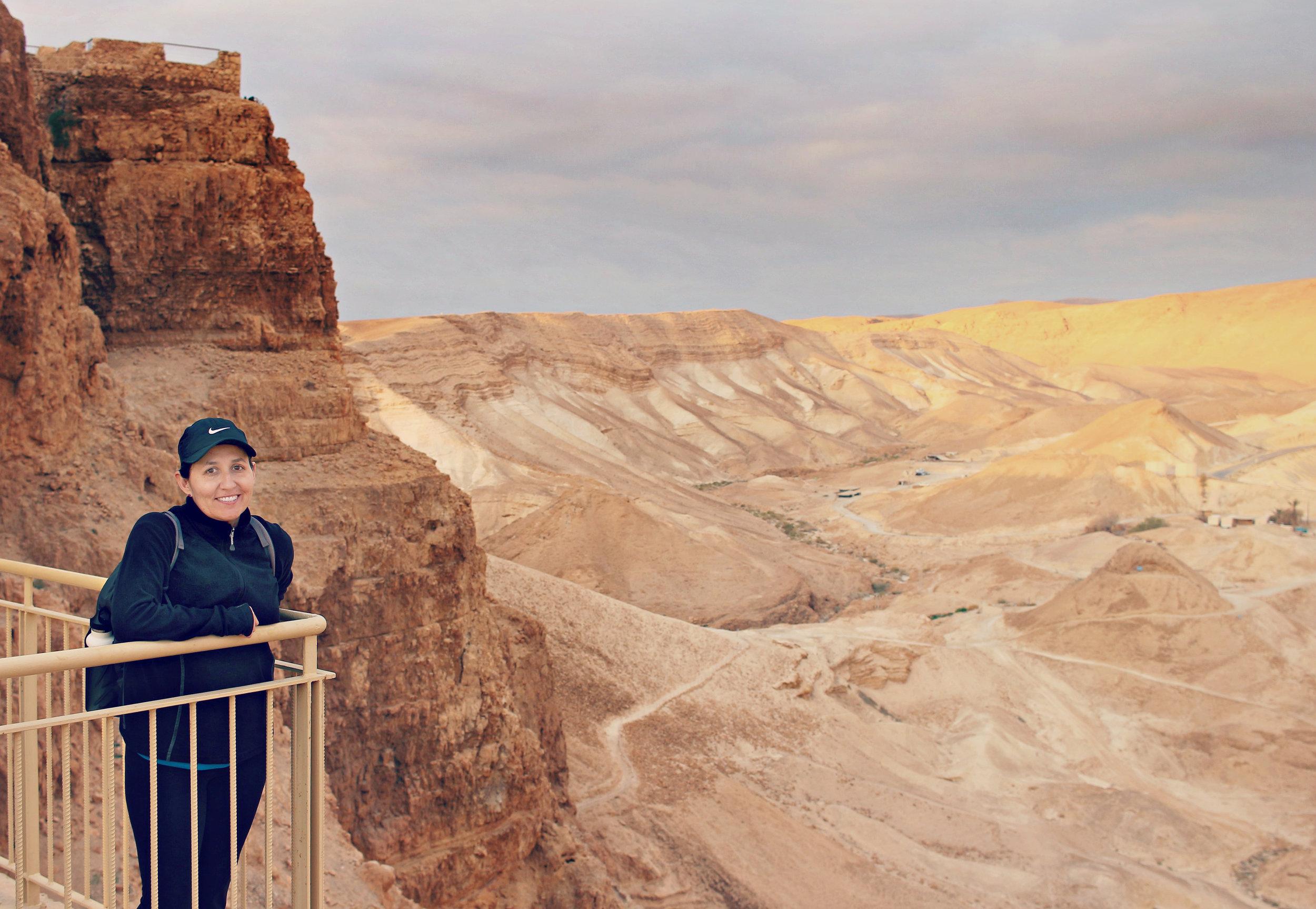 My Friend at Masada Near the Breaching Point