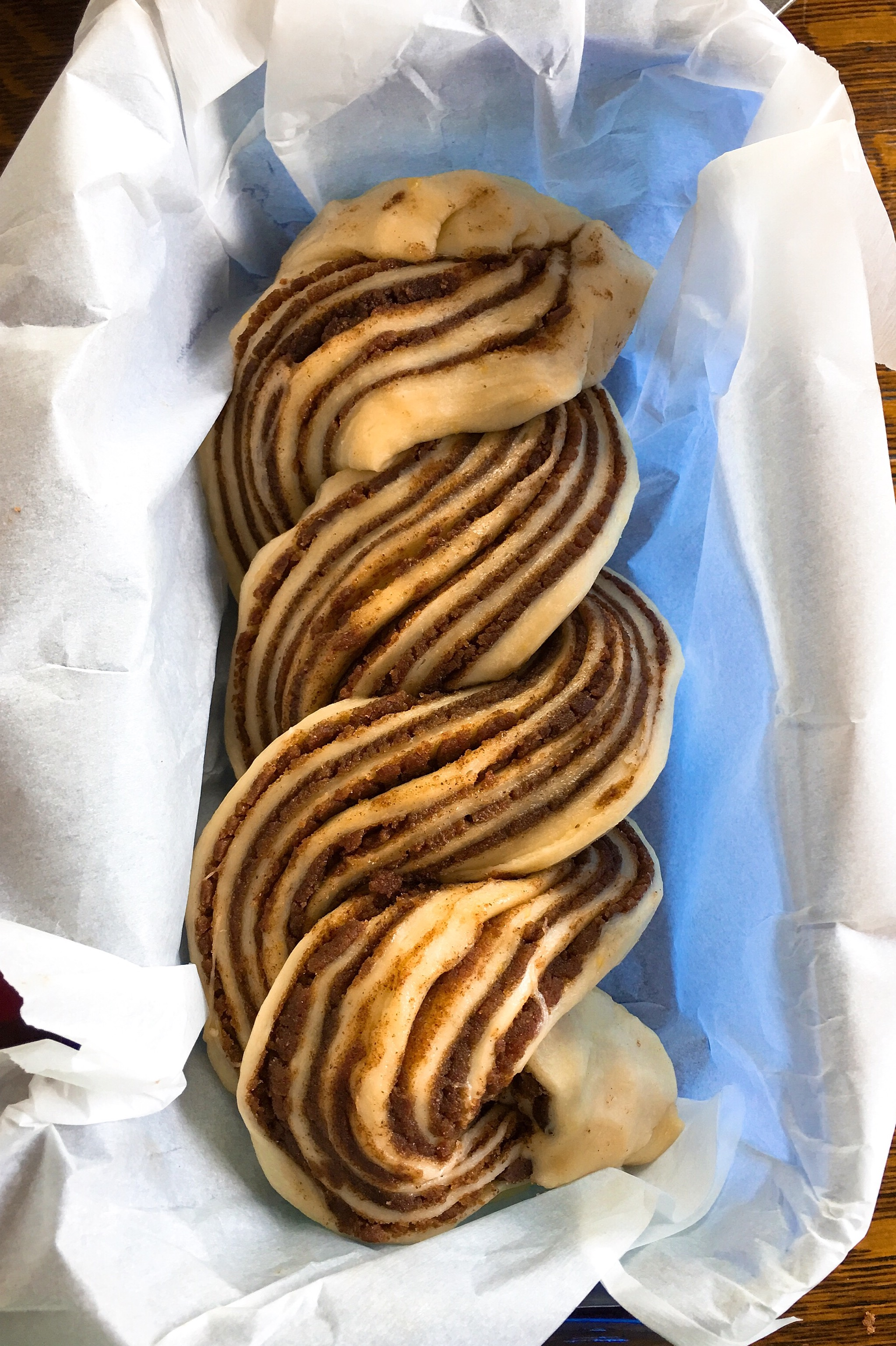 "Cinnamon dough ""braided"""