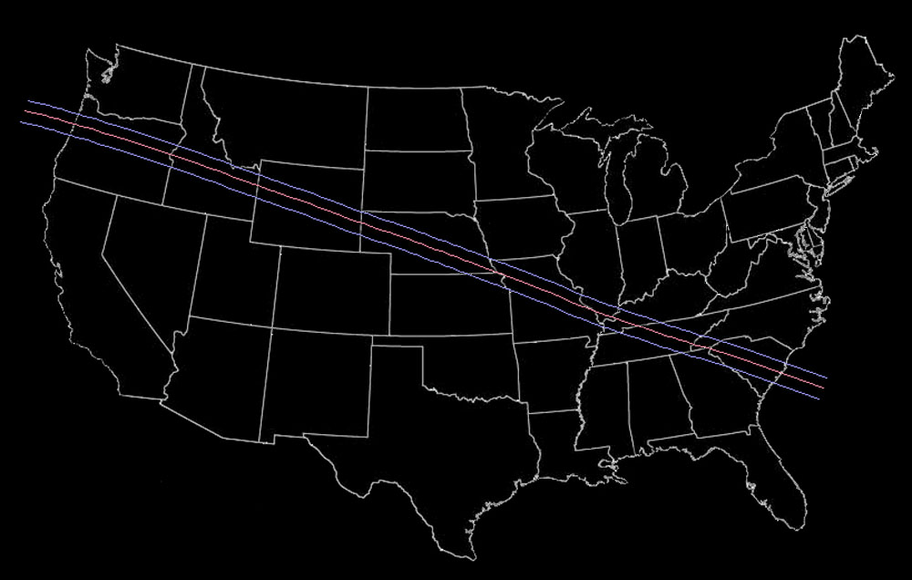 Image of path of totality by eclipse2017.org