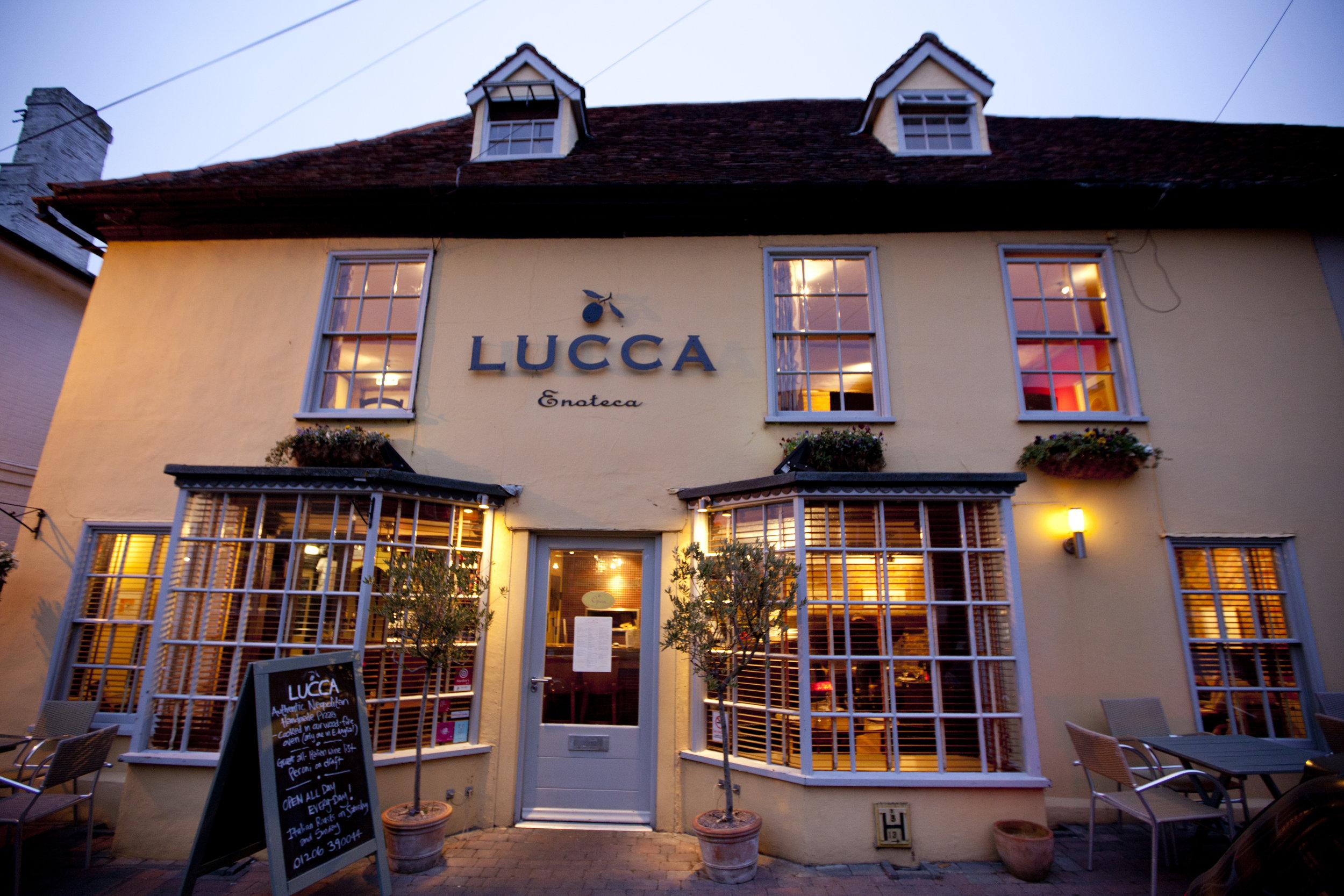 Lucca Manningtree pizza pasta eating out in essex