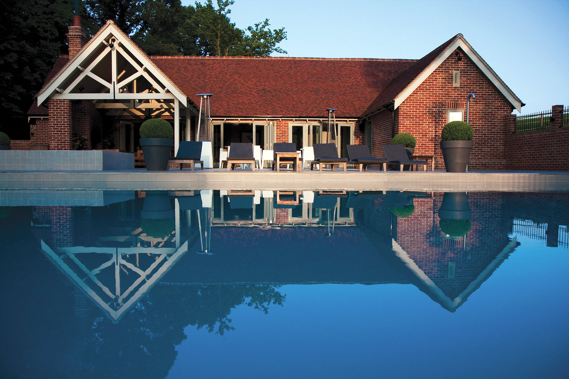The pool at Maison Talbooth in Dedham, Essex