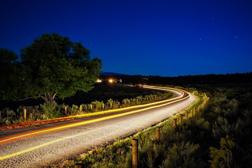 Cubita Road separates the Rito San Jose and Fisher Trails.