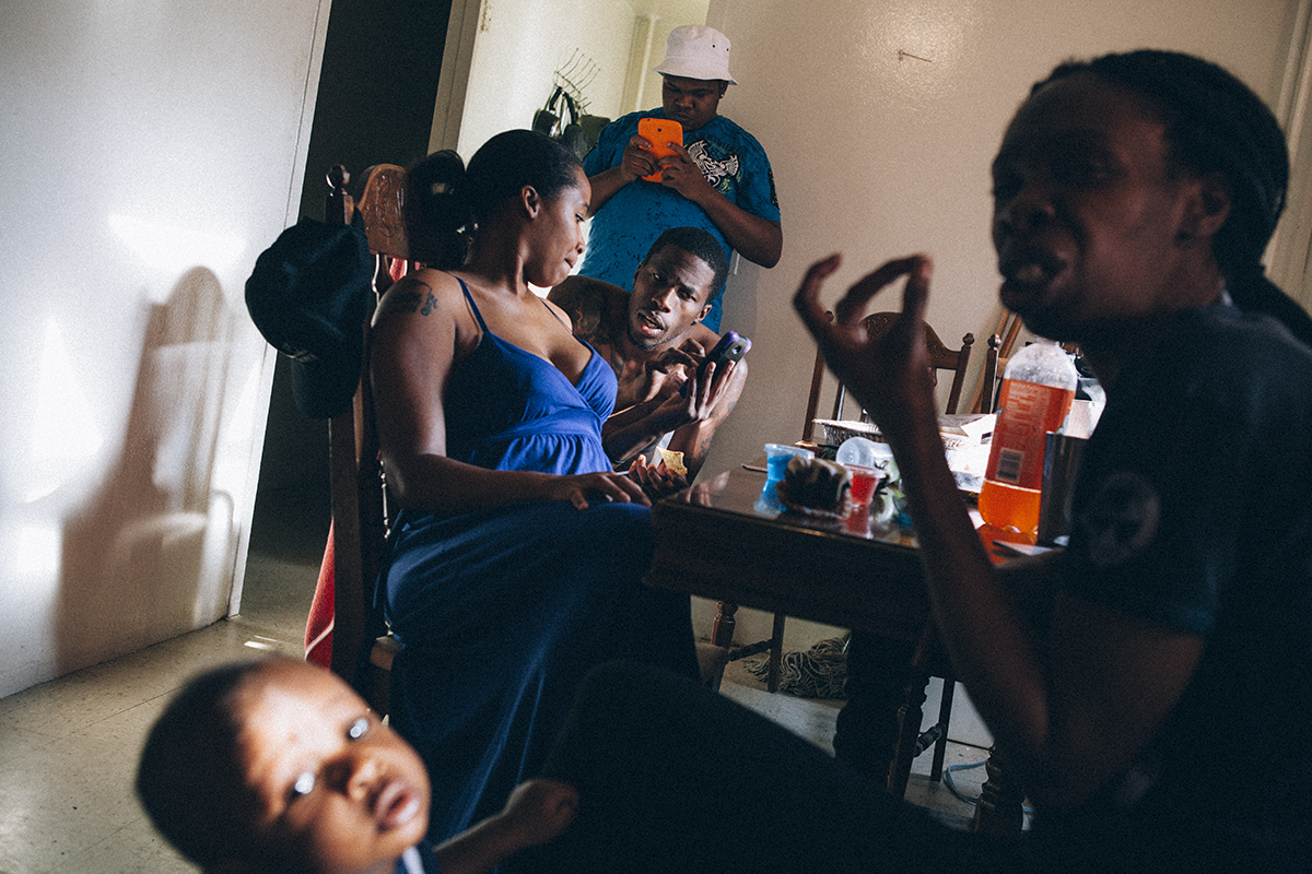 House McJunkin  features the Kelvin McJunkin, his friends and family in the public housing complex, Boulevard Houses, in East New York, NY.
