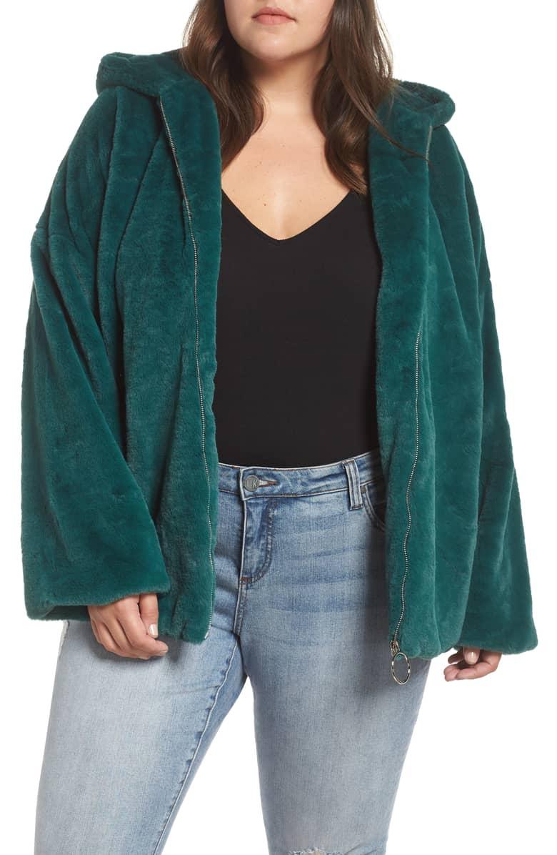 Glamrous Faux Fur Hoodie