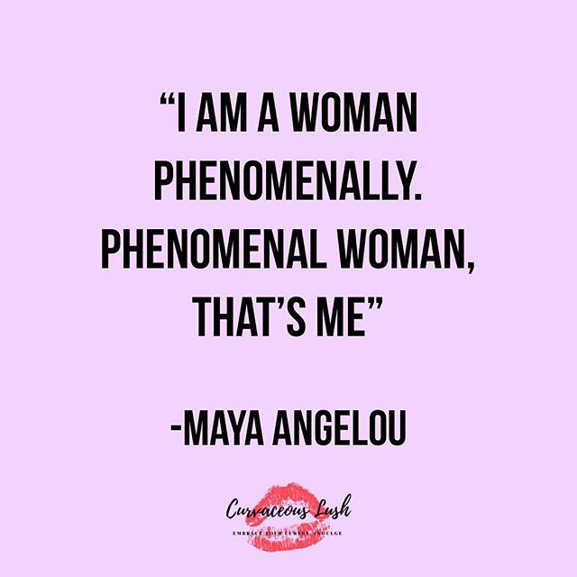 Today we celebrate all women! Don't you ever forget just how phenomenal you are! 💜#internationalwomensday #quoteoftheday #mayaangelou #phenomenalwoman #embraceyourcurves #bodypositivity #empoweringwomen #womensday #celebratewomen #believewomen #curvaceouslush