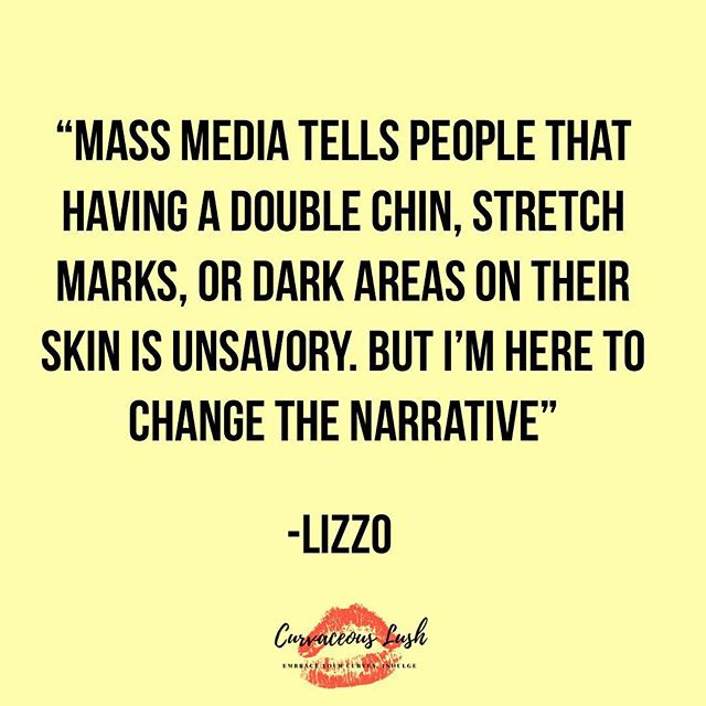 Channeling our inner Lizzo today! Let's continue to change the narrative! 🙌❤️💪 #curvygirlsunite #embraceyourcurves #quoteoftheday #bodypositivity #positivevibes #empoweringwomen #inspiringwomen #plussize #curvaceouslush