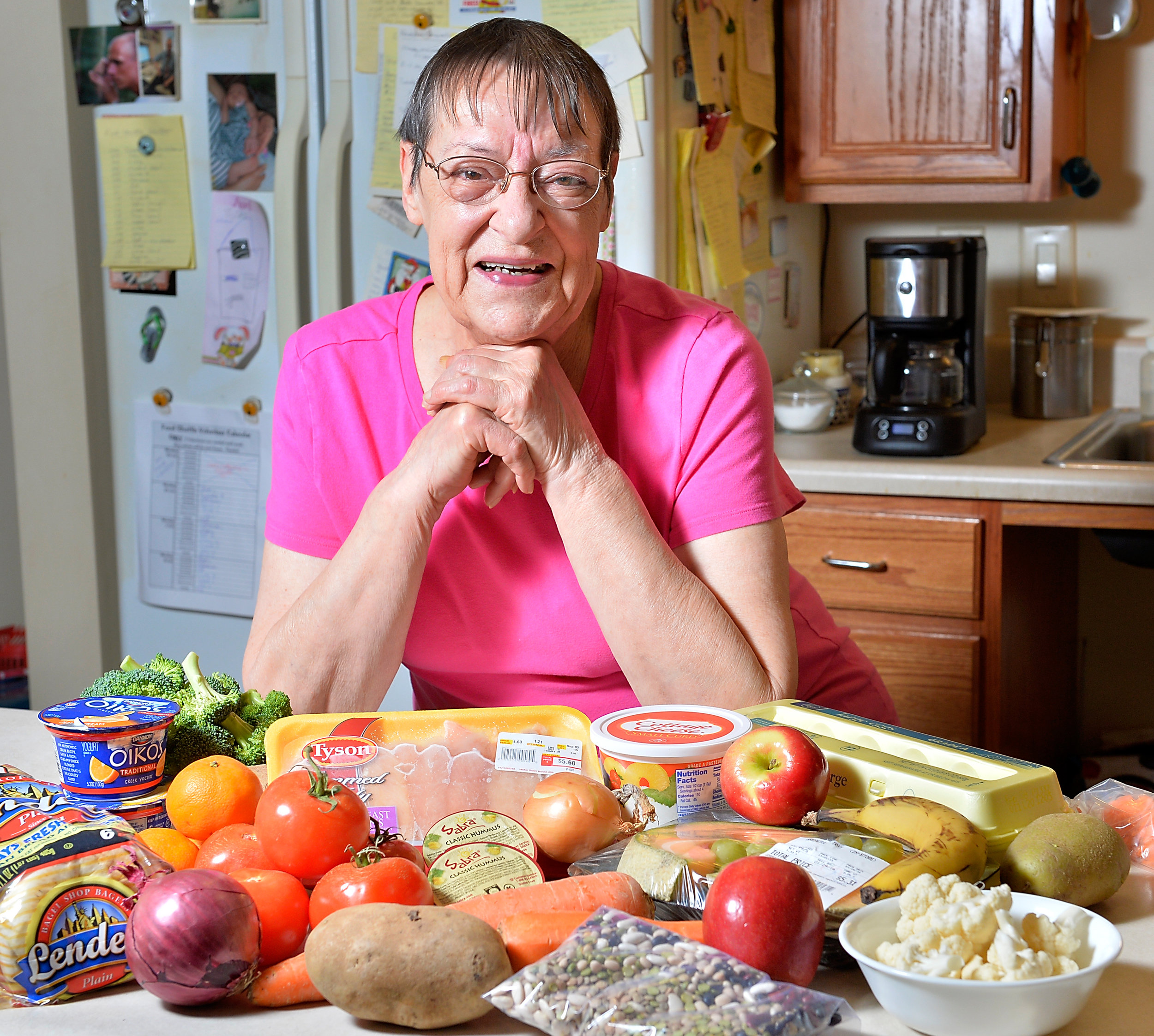 InterFaith Food Shuttle's volunteer and recipient Florence Calabrese. (Photo by Sara D. Davis for InterFaith Food Shuttle)