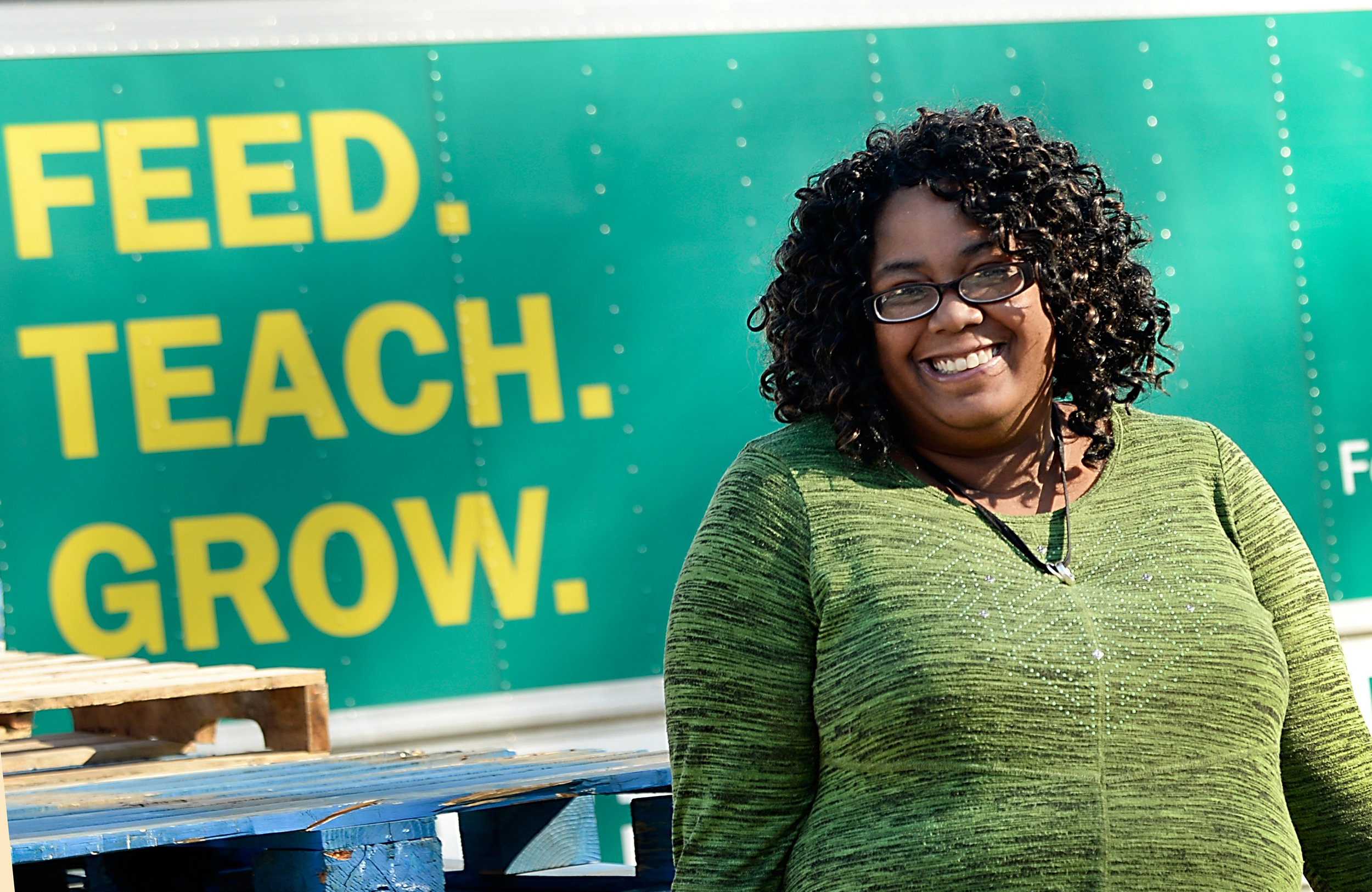 Inter-Faith Food Shuttle's Fostering Wellness graduate Kim Greehy December 14, 2017 in Raleigh, N.C. (Photo by Sara D. Davis)