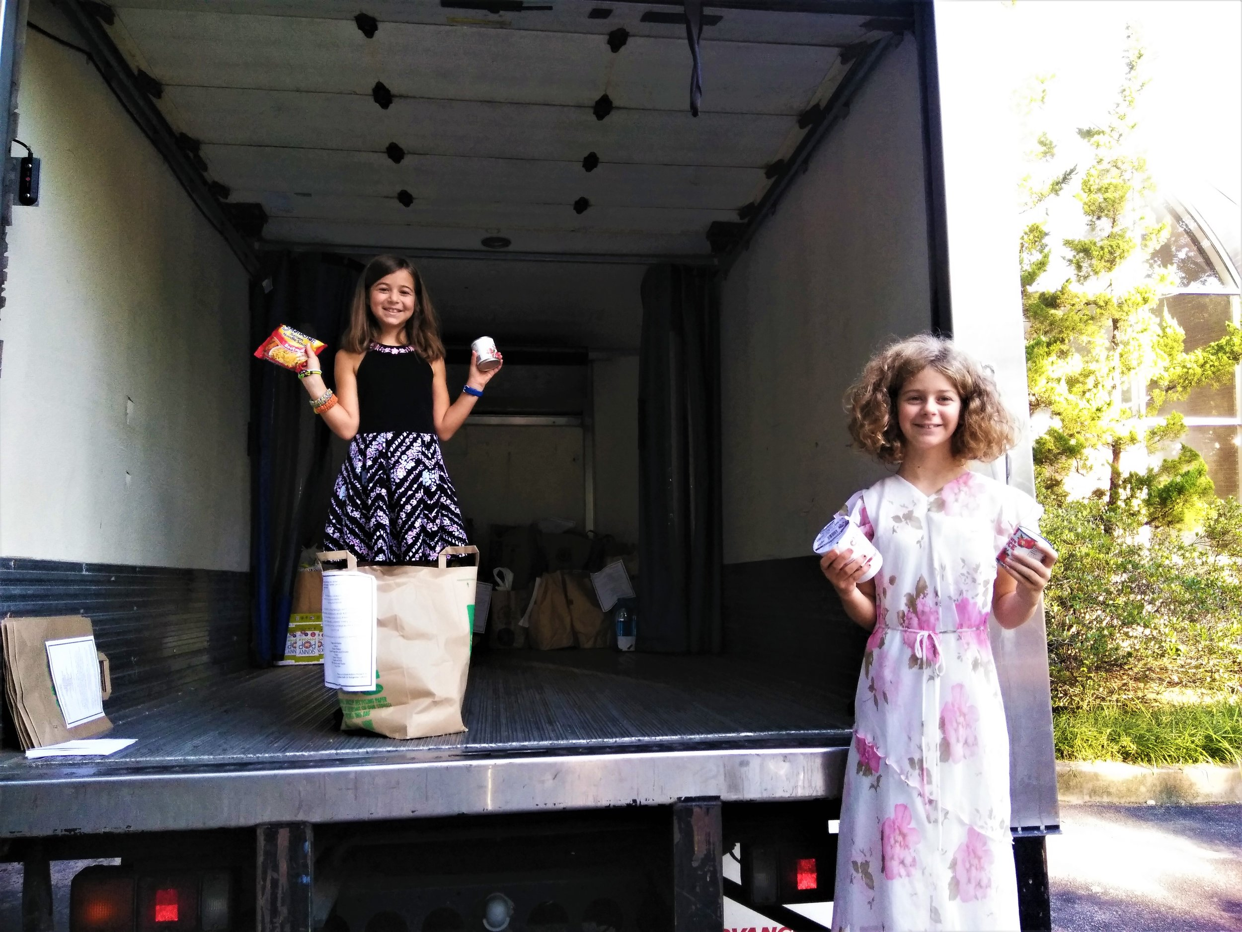 Lila and Sadie - Ready to receive donations.jpg