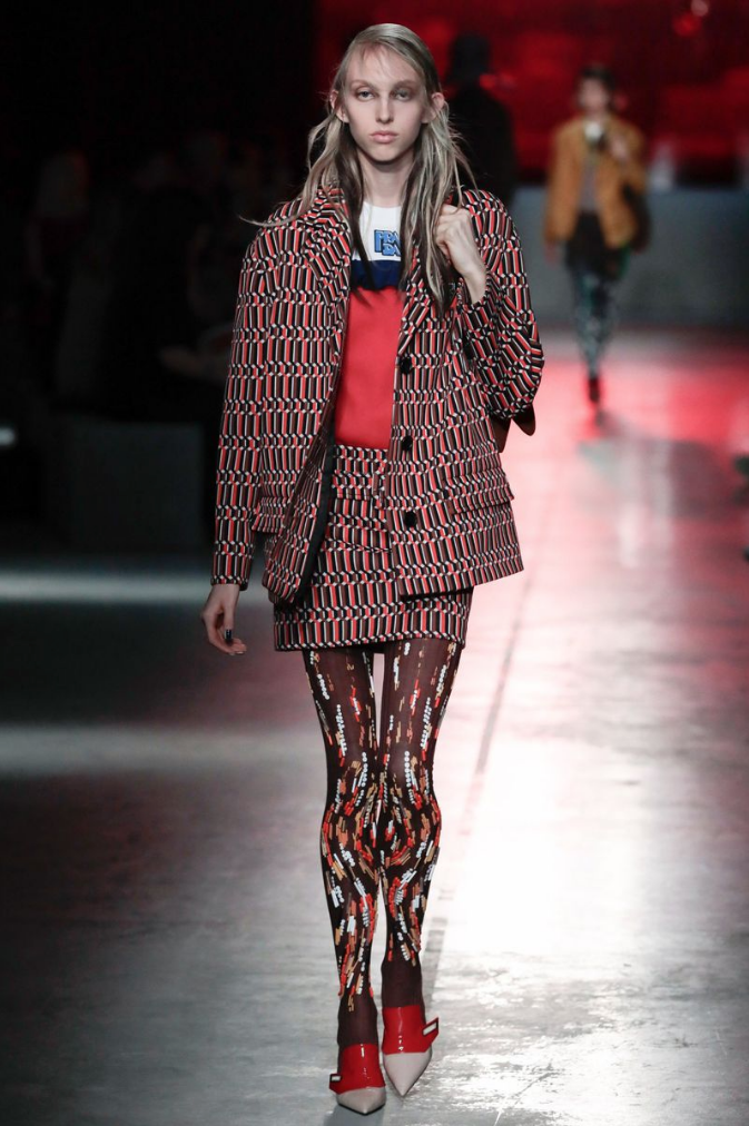 Delilah Koch - Runway. Click image to see video from full Prada runway show.