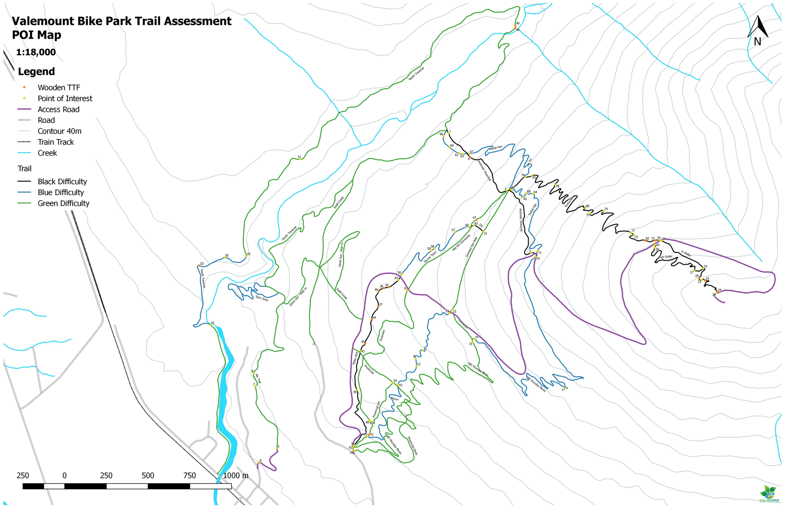 This safety audit in Valemount, BC served to create a sound risk management strategy based on assessed structure inventory, classification of trails and a Signage Plan to uphold regulatory requirements and Duty to Care.