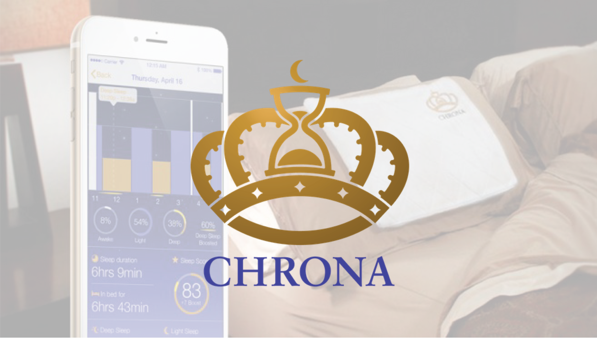 Chrona Sleep's proprietary sleep therapy technology applies acoustic neuromodulation to enhance sleep in real time.