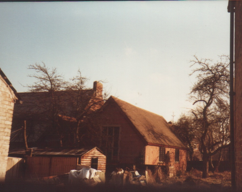 Side view of original church hall.