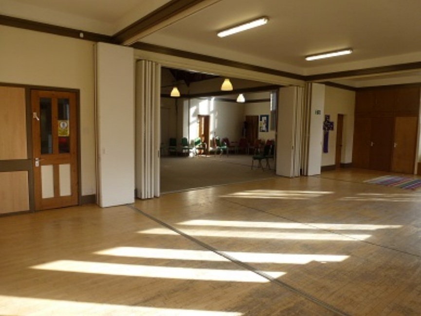 Interior of new hall