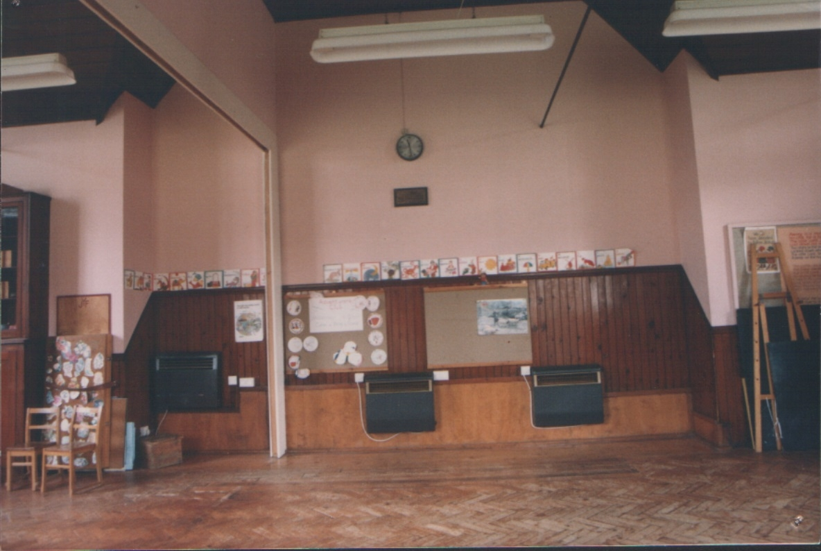 Inside the original hall/schoolroom