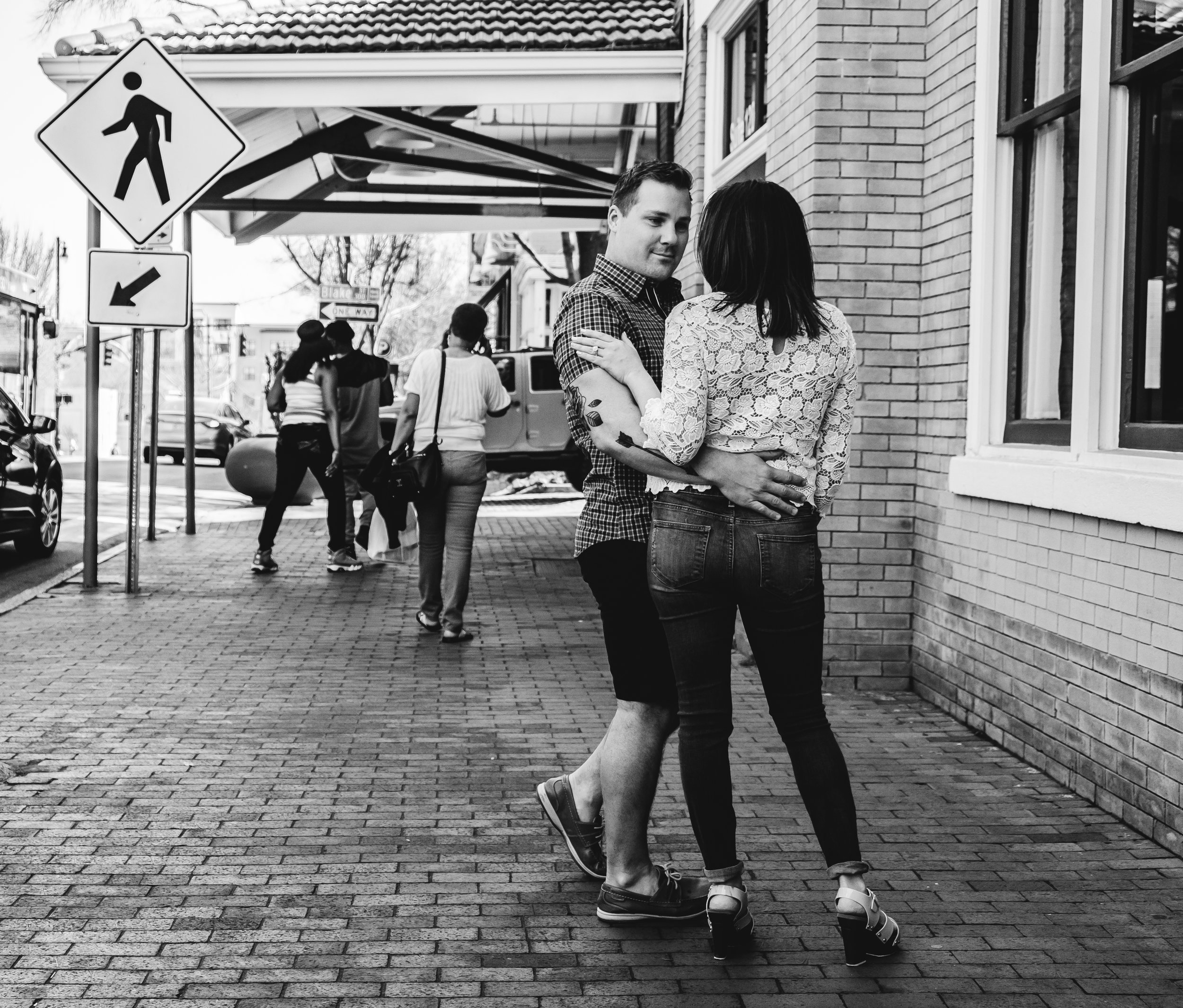Just dancing on the sidewalk... No big deal!