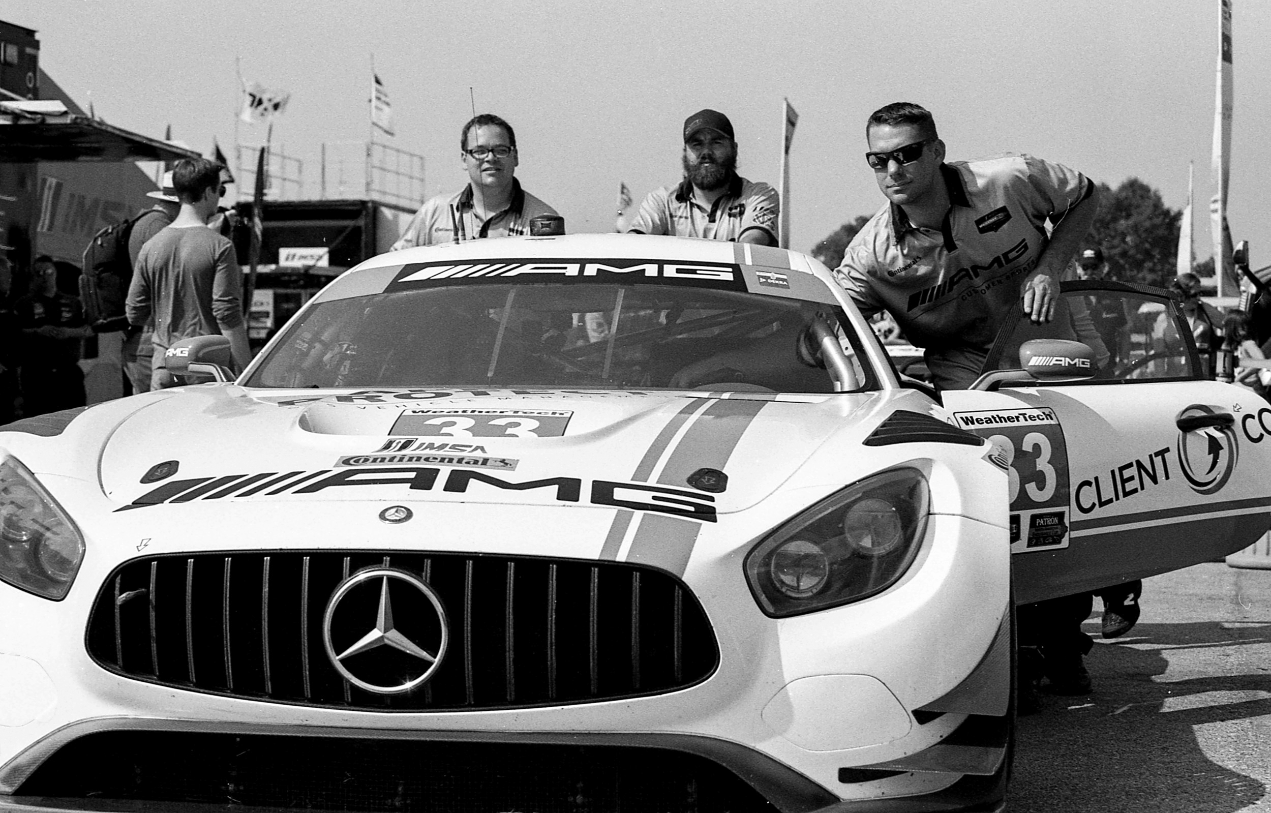 A gentleman's chariot, Mercedes AMG GT car getting prepped to hit the track...
