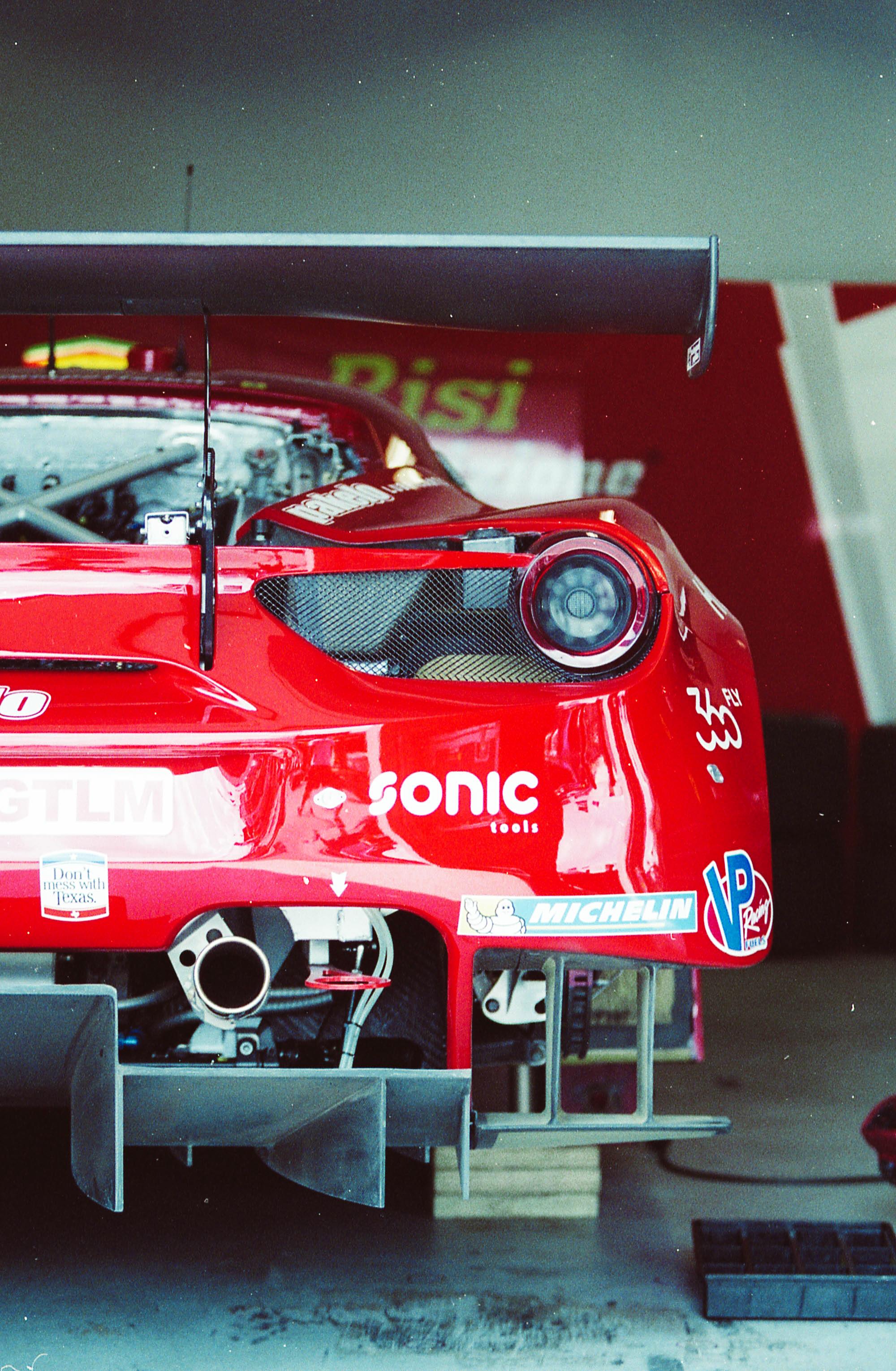 Team Risi Competizione prepping the Ferrari 488 GT car for track time...