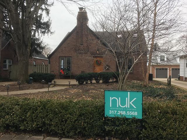 Getting signs out this morning on some new projects that have started construction! . . .  #thedesignnuk #architecture #interiordesign #Indianapolis #rebuildingindy #indyremodel #MeridianKessler