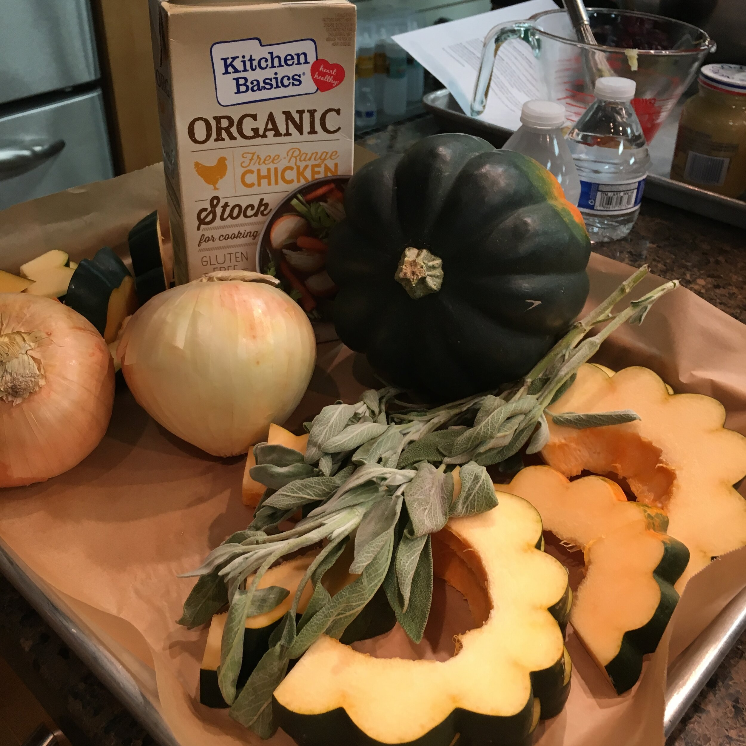 This time it's acorn squash and chicken stock!