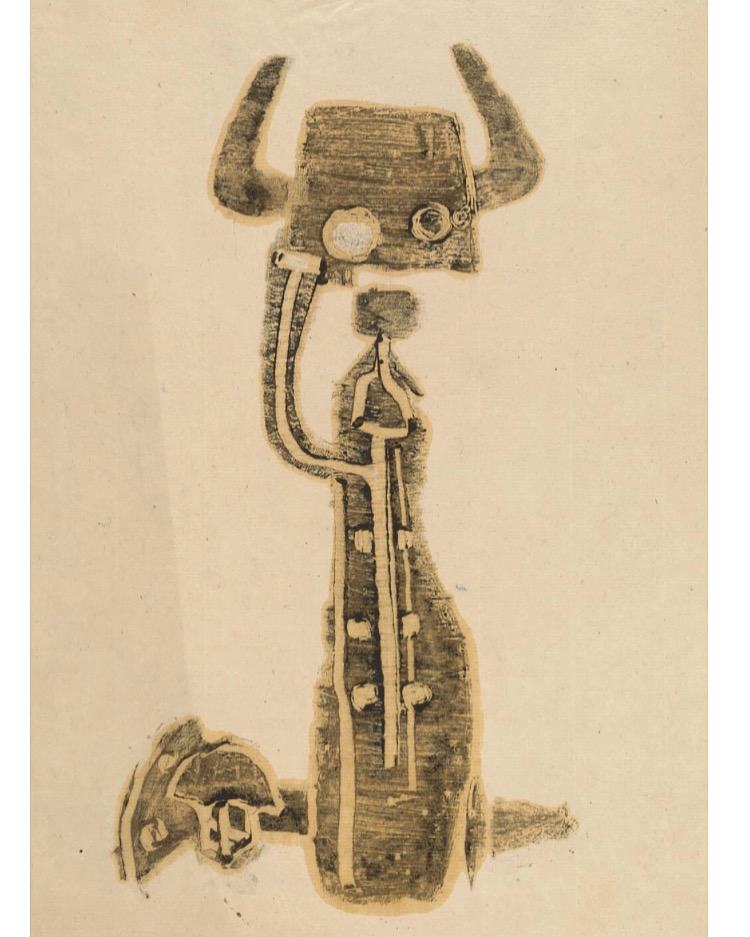 Hedda Sterne,  Untitled , 1949, monoprint; Collection of the Krannert Art Museum and Kinkead Pavilion, University of Illinois; gift of the artist, 2002-3-9.