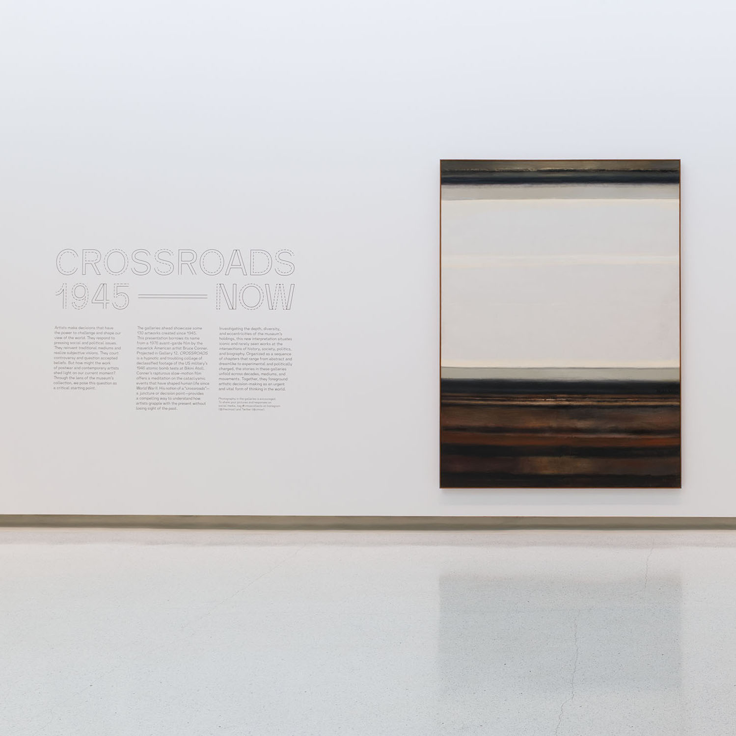 Installation of Hedda Sterne's, Horizon II, 1963, oil on canvas, 96 7/8 in. x 70 3/4 in., Collection of Carnegie Museum of Art, Pittsburgh: Purchase: gift of Mr. and Mrs. James M. Bovard