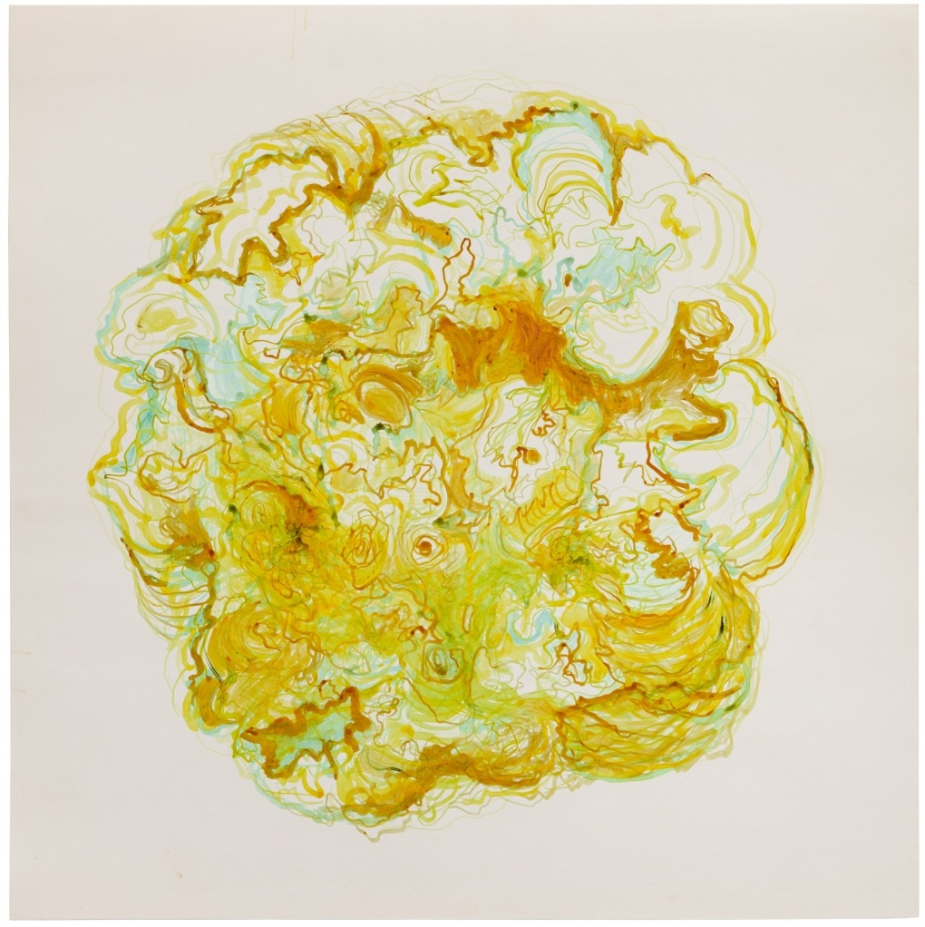 Hedda Sterne,  Untitled , c. 1967, Gouache on paper, 20 x 20 inches (50.8 x 50.8 cm)