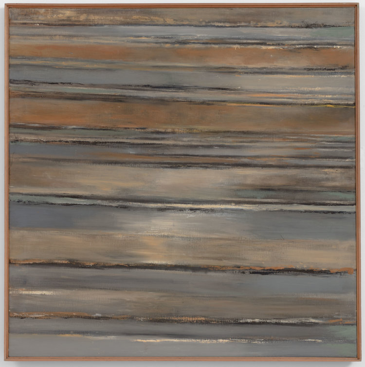 Hedda Sterne,  Vertical Horizontal #12 , c. 1958, Oil on canvas, 50 in. x 50 in.