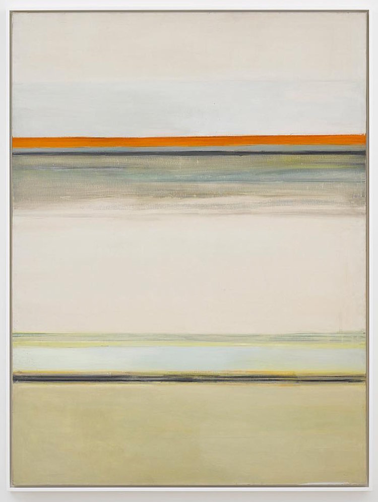 Hedda Sterne,  Vertical Horizontal #7 1/2 , 1963, Oil on canvas, 72 in. x 54 in.
